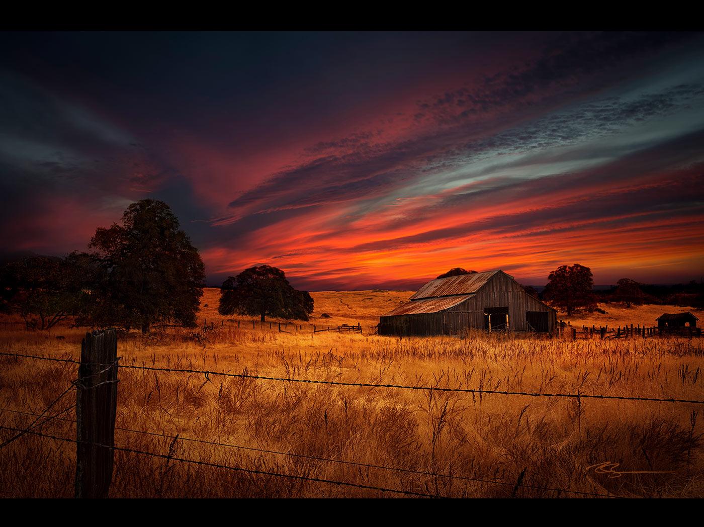 Hd wallpaper mountain - Montana Barn Sunset Home 1400 72h Ryan Buchanan Photography