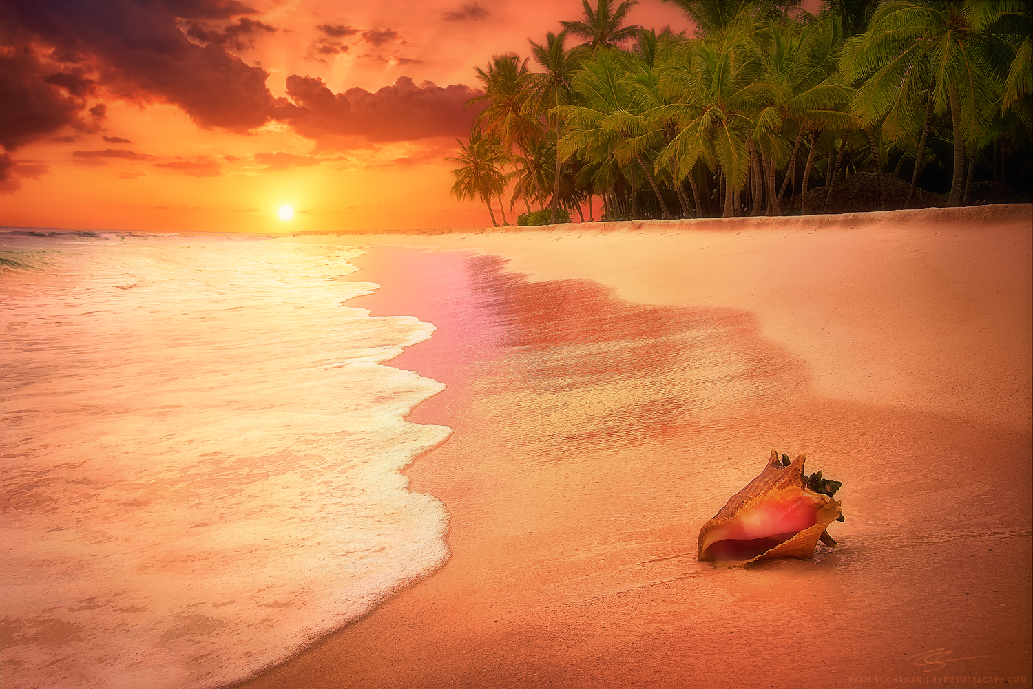 beach, dominican republic, ocean, sunset, ryan buchanan