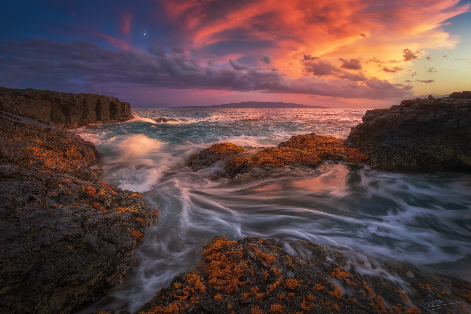 hawaii sunset seascape